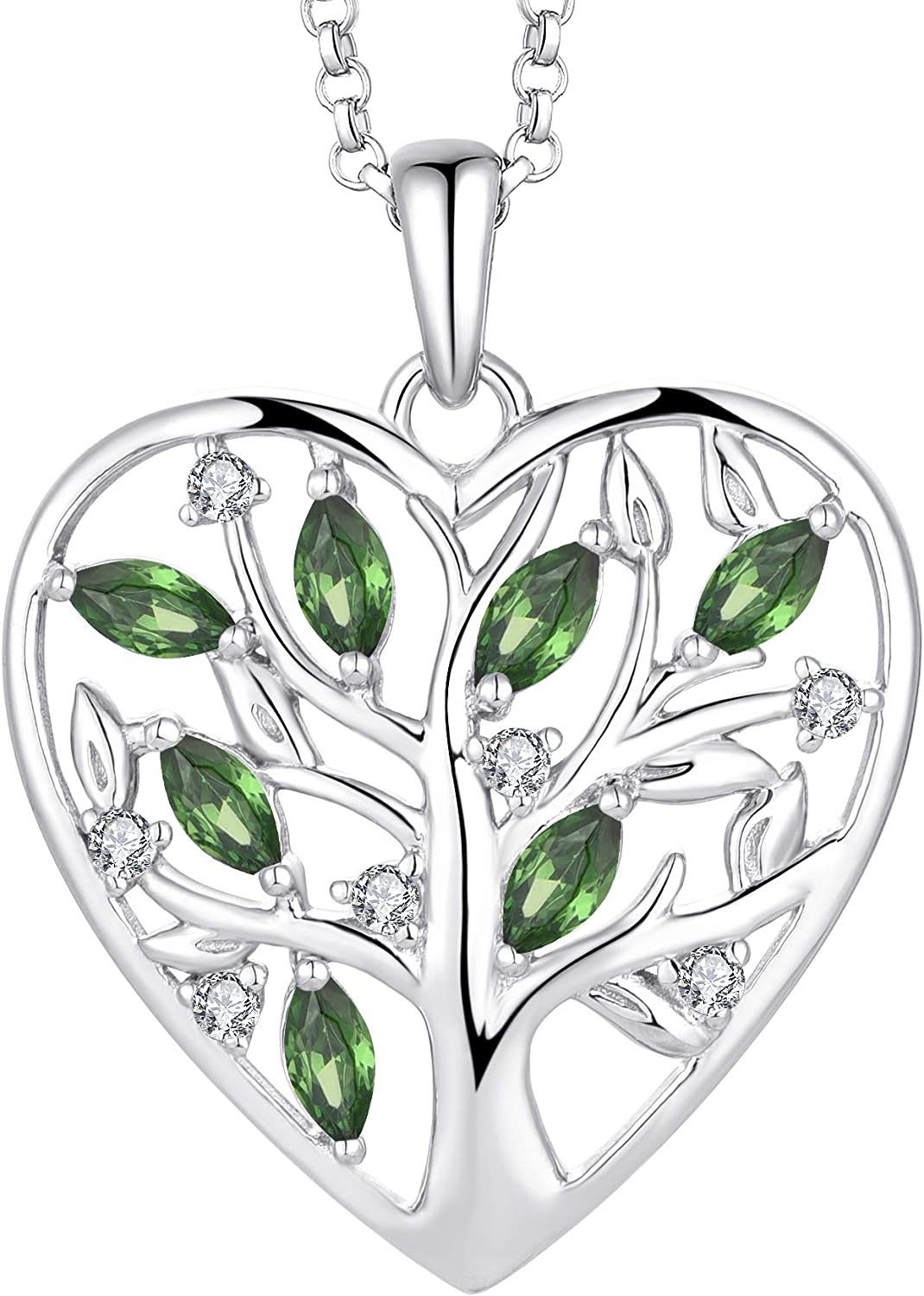 JO WISDOM Women Heart Necklace 925 Silver Ranking TOP9 Limited Special Price of Tree Sterling Life