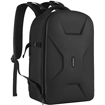 MOSISO Camera Backpack,DSLR/SLR/Mirrorless Photography Camera Bag Waterproof Hardshell Protective Case with Tripod Holder&Laptop Compartment Compatible with Canon/Nikon/Sony/DJI Mavic Drone, Black