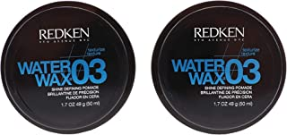 Water Wax 03 Shine Defining Pomade 1.7 oz (49 g) by Redken(Pack of 2)