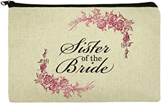 Wedding Floral Sister of the Bride Makeup Cosmetic Bag Organizer Pouch