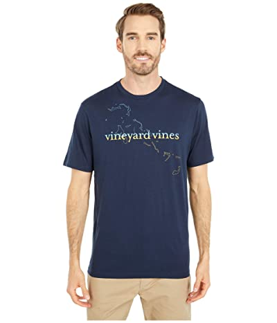 Vineyard Vines Bahamas Map T-Shirt (Vineyard Navy) Men