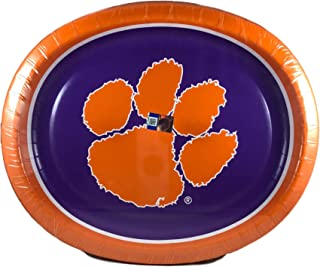 Performa Clemson University Tigers Oval Plates (50 Count)