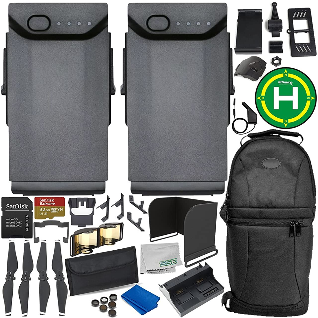 2-Battery Ultimate Accessory Bundle for DJI Mavic Air
