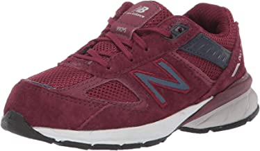 New Balance Boys' 990v5 Sneaker, NB Burgundy/Pigment, 9.5 W US Toddler