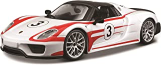 Bburago Race Porsche 918 Spyder Weissach Package Diecast Vehicle (Colors May Vary/1:24 Scale)