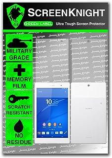 ScreenKnight® Sony Xperia Z3 Tablet Compact helkropp skärmskydd osynlig skärm - fram och bak