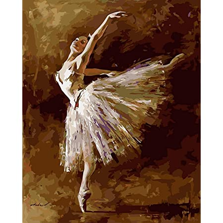Paint by Number Kits Adults Beginner-Ballet Dancer Students DIY Digital Canvas Painting Gift for Kids