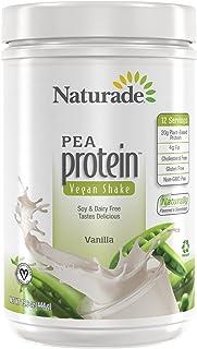 Naturade Plant Based Vegan Pea Protein – Vanilla – 15.66 oz