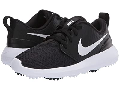 Nike Golf Roshe G (Little Kid/Big Kid) (Black/Metallic White/White) Men