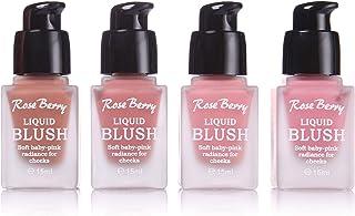 مجموعة احمر خدود بلاشر سائل 4 الوان عبوة 15 مل ROSE BERRY Liquid Blusher Set 4 Colors 15ml