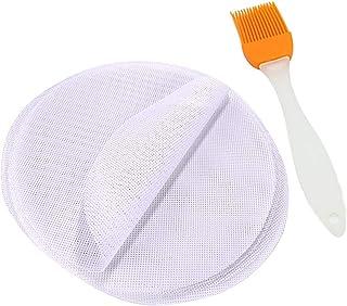 PPX Silicone Steamer Mat Pad Revêtements de Vapeur en Bambou 5 Pièces Tapis de boulettes Rondes et 1 Pinceau d'huile de Si...