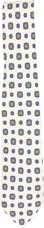 Kiton Men's Silk Grosgrain Floral Pattern Necktie