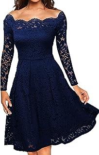 فساتين رسمية نسائية كلاسيكية من الدانتيل بالزهور لأي مقاسات إضافية للنساء برقبة واسعة واسعة فستان لحفلات الزفاف