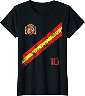 Amazon.com: Womens Womens Spain Womens Jersey Shirt Soccer Espana ...