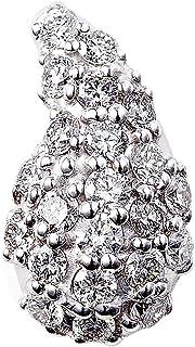 カナディアンダイヤモンド ペンダントヘッド 計0.40ctUP [K18WG] 勾玉 専用ケース付
