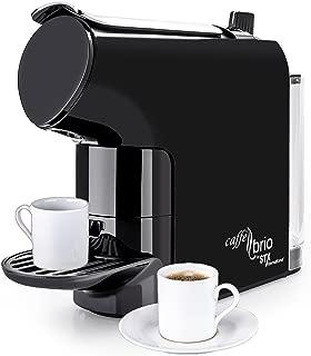 Caffé Brio, Nespresso OriginalLine Capsule Compatible Espresso Coffee Maker Machine, STX International Model STX-6000-CB - VTC Dispensing, Auto-Eject Capsule Design, 30 second Brew & Eco-Energy Mode