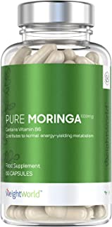 Moringa Oleifera Pura Alta Dosis de 1000 mg - Superalimento