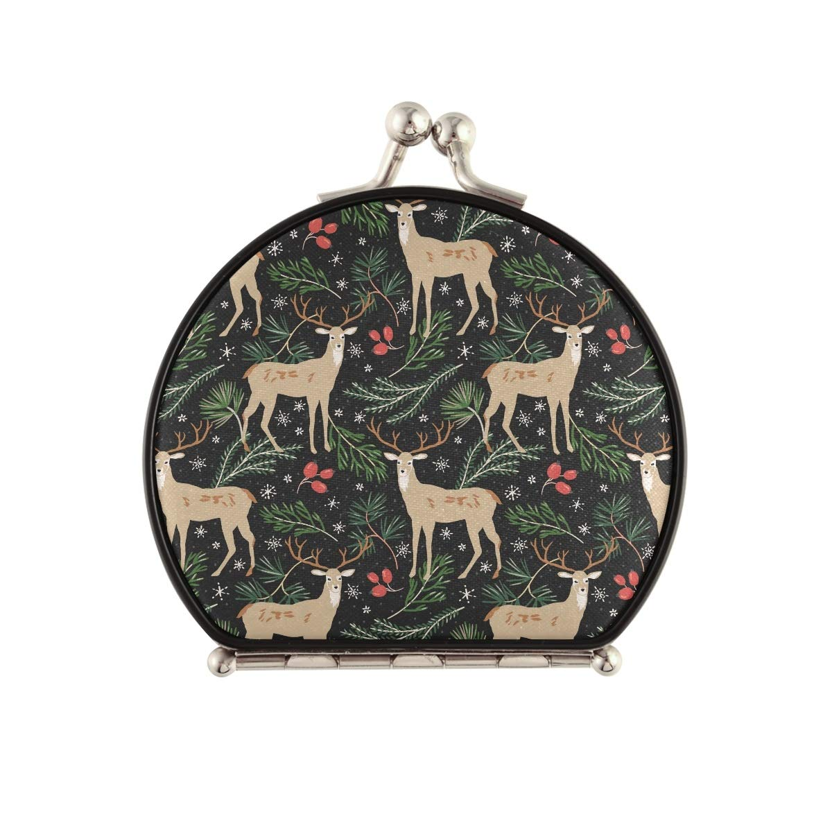 Travel Makeup OFFicial Mirror for Women - Christmas Animal Deer store M Compact