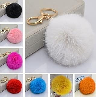 Fusicase Keychain,Fusicase New Fashion Style Stylish Cute Plush Genuine Ball Handbag Key Chain Cell Phone Car Pendant(Rose)
