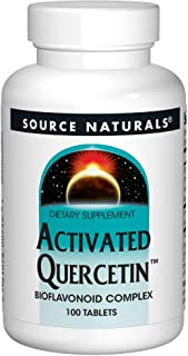 Source Naturals Activated Quercetin - Plant-Derived Bioflavonoid Complex - Seasonal & Immune Defense - 100 Tablets