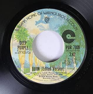 Deep Purple 45 RPM Burn / Coronarias Redig