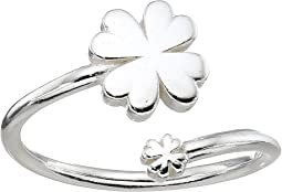 Four Leaf Clover Ring Wrap - Precious Metal