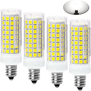 All-New-(102LEDs) E11 Led Bulbs, 80W or 100W Equivalent Halogen Replacement Lights, Dimmable, Mini Candelabra Base, 850 LM,Daylight White 6000K, AC110V/ 120V/ 130V, Replaces T4 /T3 JD e11,pack of 4