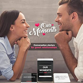 OUR MOMENTS Couples: 100 Thought Provoking Conversation Starters for Great Relationships - Fun Conversation Cards Gam...