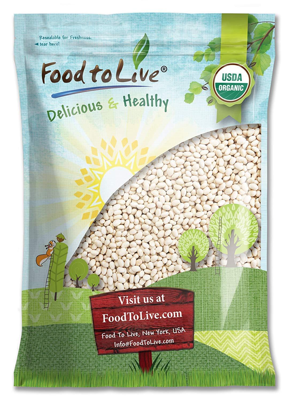 Organic Navy Beans Credence Max 51% OFF 10 Pounds - Non-GMO Vegan Bul Kosher Raw