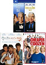 Steve Bride Baby Comedy Collection: Father of the Bride 1 & 2 + Cheaper by the Dozen + Three Men & a Baby Laugh Pack DVD 4 Movie Bundle Feature