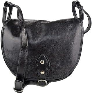 Ladies handbag leather bag clutch hobo bag shoulder bag black crossbody bag  made in Italy genuine fd5701adbcf06