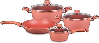Wilson 7 Pieces Forged Cookware Set, Terra CottaAluminum
