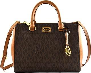 Kellen Medium Satchel Crossbody Bag (Brown pvc)