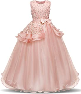 Best Girl Sleeveless Embroidery Princess Pageant Dresses Kids Prom Ball Gown Review