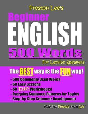 Preston Lees Beginner English 500 Words For Latvian Speakers