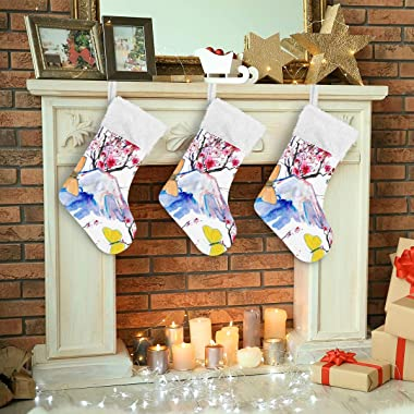 FengJu Christmas Holiday Stockings & Holders 2 Pack 18 Inches Big Xmas Stockings Seasonal Decoration with Belt Loop for F