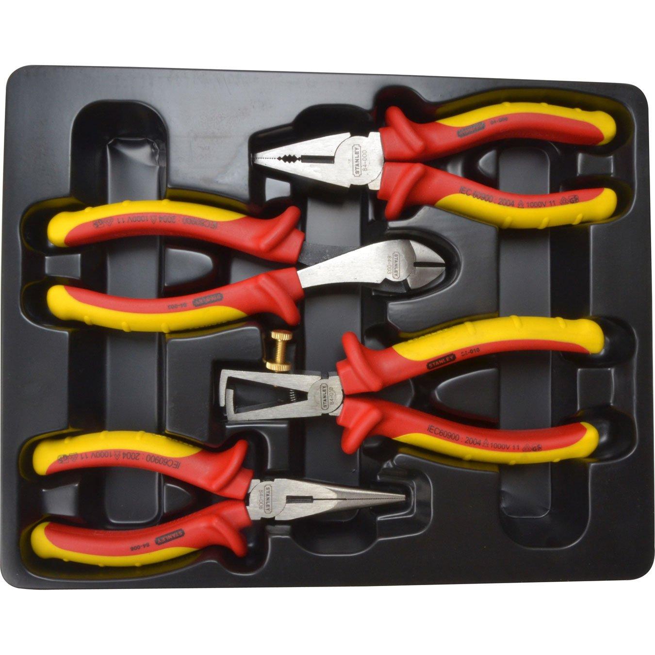 Stanley STA584489 - Alicates (pack de 4): Amazon.es: Bricolaje y herramientas