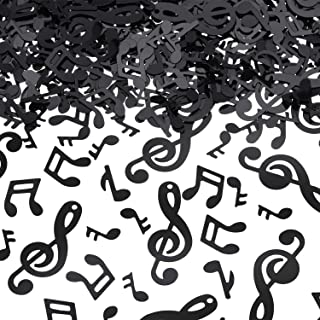 Music Confetti Music Note Cutouts Black Musical Confetti Notes for Music Party Recital Reception Baby Shower Wedding and Birthday Party Decoration (3000)