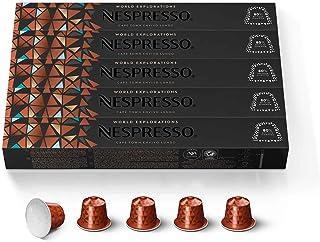 Nespresso Capsules OriginalLine, Cape Town Envivo Lungo, Dark Roast Espresso Coffee Pods, 50 Count Pods, Brews 3.7 Ounce