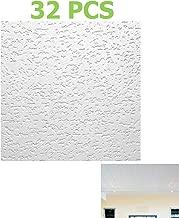 32PCS Reliable Tivoli 1x1ft Wood Fiber Surface-Mount Ceiling Tile 32SQ/ft Quick Delivery