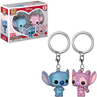 Funko Pop Keychain Lilo and Stitch and Angel, 2 Pack