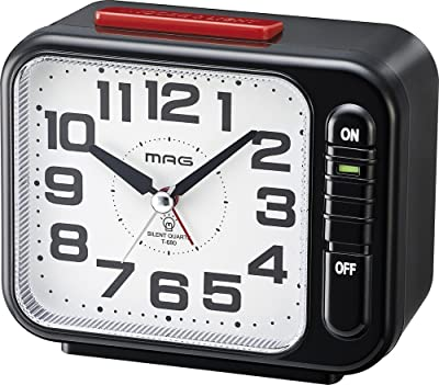 MAG(マグ) 目覚まし時計 非電波 アナログ モーニングラリー2号 連続秒針 ブラック T-680BK-Z