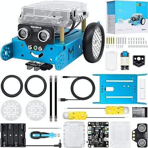 Makeblock mBot Kit de Voiture de Robot, Kit de Robot de Codage avec Programmation Scratch / Arduino, Télécommande APP...
