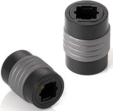 Poppstar 2X Toslink Acopladores (Conector Hembra a Conector Hembra Toslink), extensión de Cable de Audio Digital óptico Toslink (Cable Tos), Cable S/PDIF