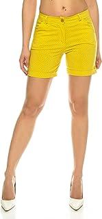 Crazy Age Chino szorty stretch krótkie spodnie z paskiem szorty letnie