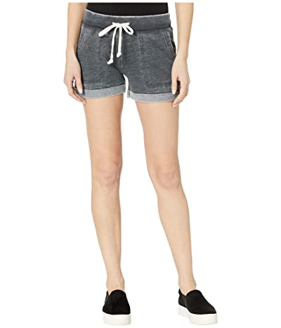 Alternative Burnout French Terry Lounge Shorts (Washed Black) Women