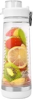 BOTTLED JOY Fruit Infuser Water Bottle, BPA-Free Sports Water Bottle with Fruit Infusion Insert, Flip-top Tritan Water Bottles for Sports Drinks 24oz 700ml