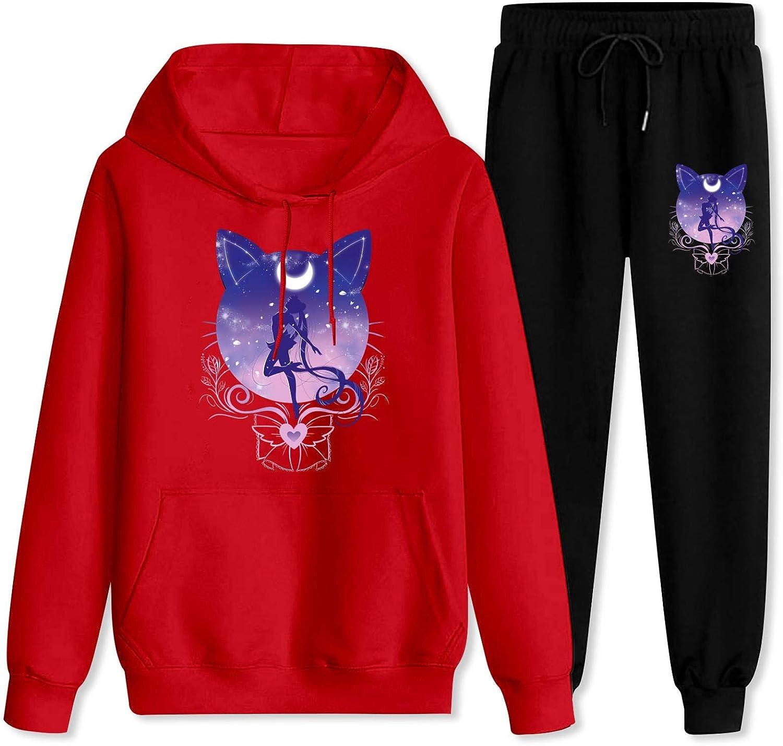 Mens Womens Sailor Moon Hoodie Two Sets Time sale Sweatshirt Pi Sweatpants Tampa Mall