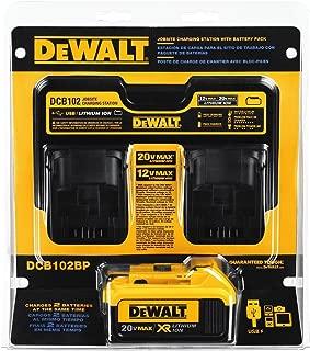 DEWALT 20V MAX Charging Station for Jobsite with 4Ah Battery Pack (DCB102BP)
