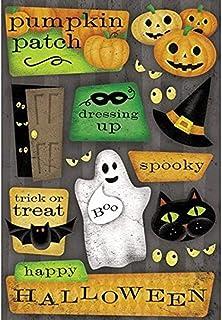KAREN FOSTER Halloween 5-1/2 Inch by 9 Inch Cardstock Stickers, Happy Halloween